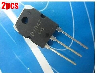 2Pcs Pnp Transistor 2Sd1047 D1047 To-3P Ic New S