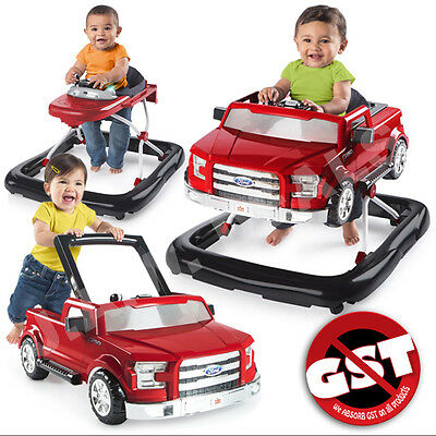 Baby Walker Exerciser Ford F150 3 Ways To Play Adjustable with Fun Sounds, Red