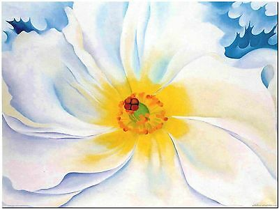 """White Flower by Georgia O'keefe Canvas Print Poster 18X24"""""""