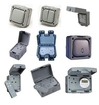 Outdoor Weatherproof Switches Sockets RCD Timer Socket Enclosure IP66 IP65