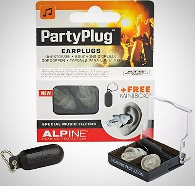Alpine Partyplug Ear Plugs Loud Music Environments Clear Gadget Accessory New