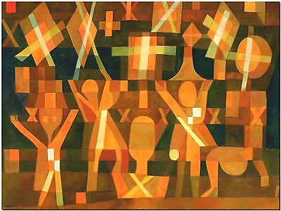 """Connected Stars by Paul Klee Abstract- Canvas Print Poster 12X16"""""""