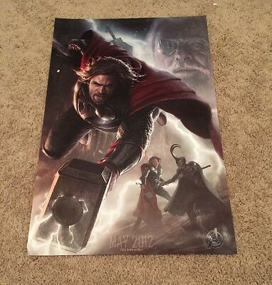 Avengers Thor The Movie SDCC Exclusive Promo Litho Poster 2011 20x26 HTF 2012