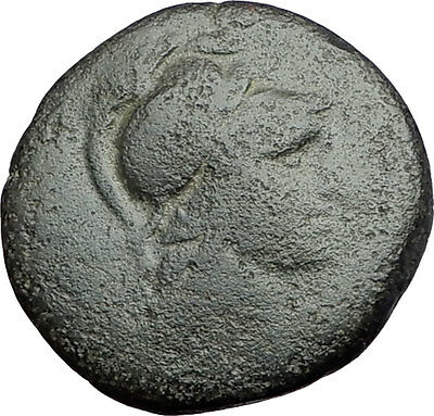 PERGAMON in MYSIA 133BC Athena Trophy Helmet Authentic Ancient Greek Coin i61151