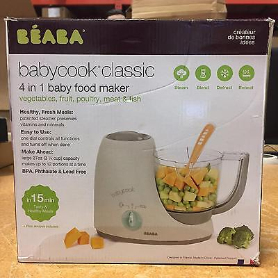 BEABA Babycook Classic 4 in 1 Steam Blend Defrost Reheat Baby Food Latte Mint