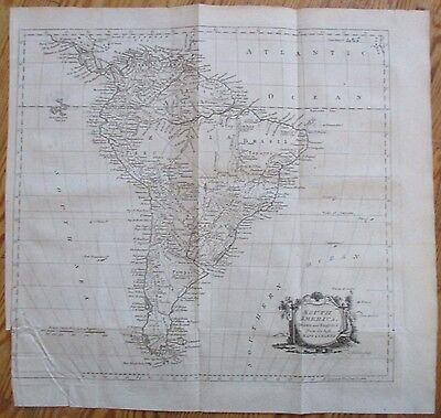 System of Geographie Map of South America by KItchin - 1774