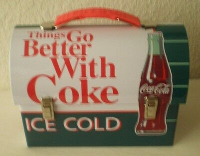 Coca-Cola,things Go Better With Coke, Workmans Carry-All Metal Lunch Box