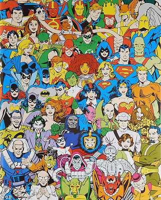 DC Comics Retro POSTER (40x50cm) Characters New Licensed Art