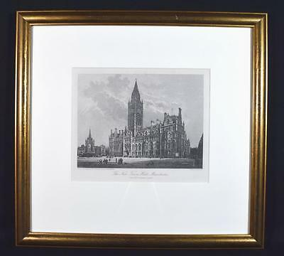 The New Manchester Town Hall Engraving, 1883, Framed, Cassell, Petter, Galpin