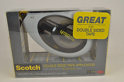 "(4) Scotch Applicator with 1 Roll of Double Sided Tape, 1/2 x 250"" (160) by 3M"