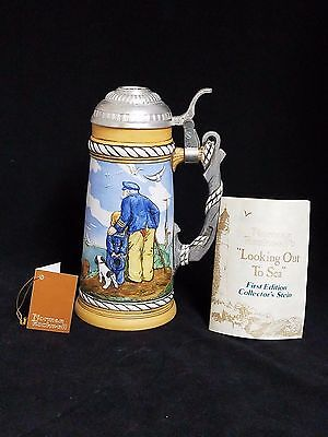 Norman Rockwell's Looking Out To Sea First Edition Collector's Stein 1981 #1,164