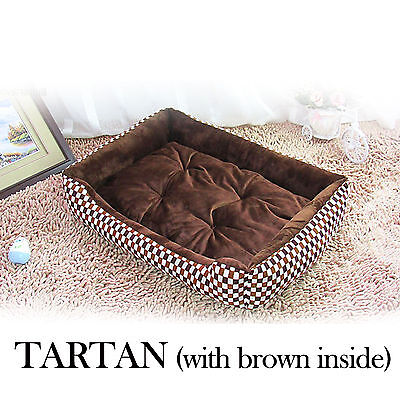 Deluxe Soft Warm High Quality Dog Cat Pets Puppy Basket Bed Nest Brown 70*50cm