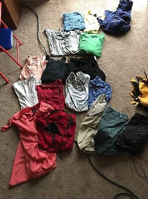 Lot of 17 Maternity Clothes Mostly Large and Medium, few XS/XL