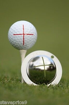 Tin Cup. Golf Ball Marker Sistema Sharpshooter