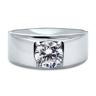 BERRICLE Silver CZ Solitaire Engagement Engagement Wedding Band Ring 1.28 Carat