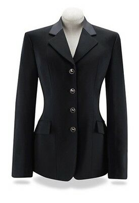 RJ Classics Ladies Black Palm Soft Shell Show Coat with Grey Collar