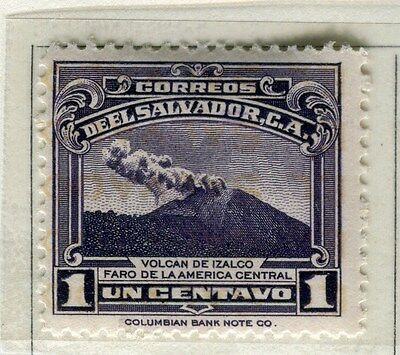 EL SALVADOR;  1935 early pictorial issue Mint hinged 1c. value
