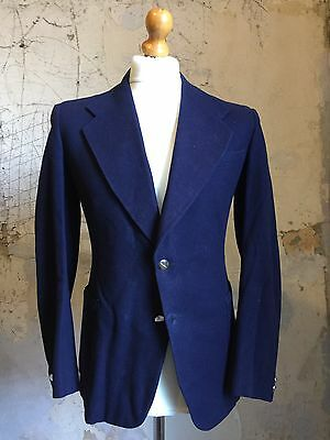 arc 39 Vintage 1930's Two Button Bespoke  Navy Blazer Size 38