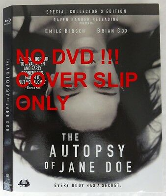 No Discs !! Autopsy Of Jane Doe Blu-Ray Cover Slip Only - No Discs !! (Inv13330)