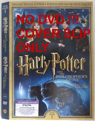 No Discs !! Harry Potter Dvd Cover Slip Only - No Discs !!     (Inv13314)