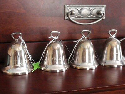 REED & BARTON SILVERPLATE CHRISTMAS BELLS ornaments