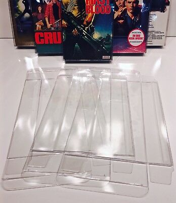 200 VHS Box Protectors  Crystal Clear   Acid-Free Cases For Standard VHS Tapes