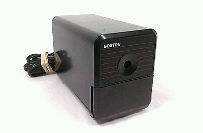 Boston Model 18 Electric Vintage Pencil Sharpener USA - Black Tested