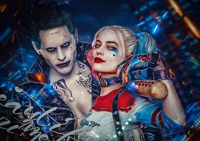Suicide Squad Harley Quinn Joker Poster Print Photo Picture A4 A3 - High Quality