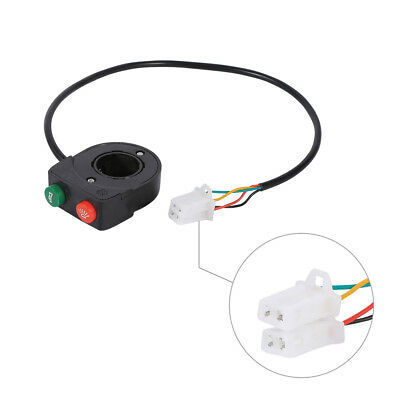 """7/8"""" Handlebar Motorcycle Bike Horn Head Light Integrated Switch ABS Plastic ES"""
