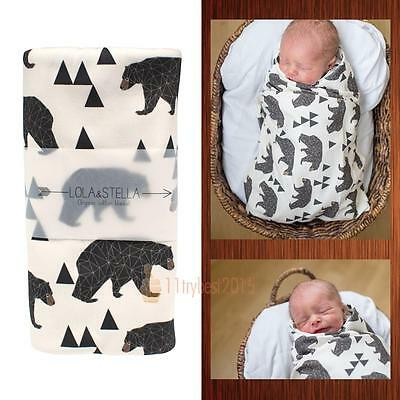 Baby Infant Swaddle Wrap Soft Warm Cotton Swaddling Blanket Sleeping Bag