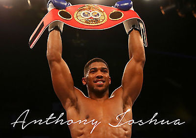 Anthony Joshua Boxer Poster Print Photo Picture A4 A3 - Boxing High Quality