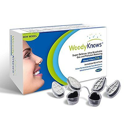 WoodyKnows 3 in 1 Nasal Filters Nose Masks Pollen Allergy Dust Allergies Relief