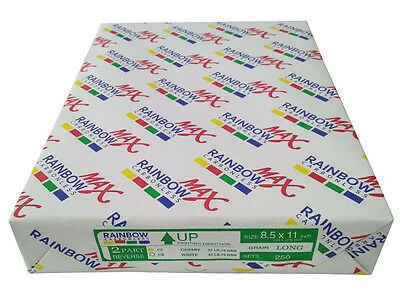 Rainbow Max NCR Carbonless Paper (2 Part) 8-1/2x11 (1000 Sets) Laser&Inkjet