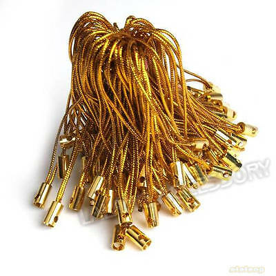 100pcs ON SALE Wholesale Gold Tone Cell Phone Strap Lariat Jewelry J
