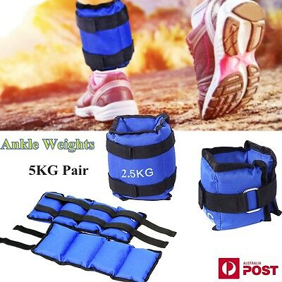 2x 2.5kg Ankle Weights GYM Equipment Weights Wrist Fitness Training 5kg AU Stock
