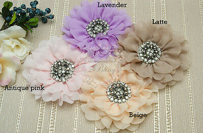 1 Daisy Blingy Chiffon Fabric Flowers (12 cm), DIY baby headband embellishment