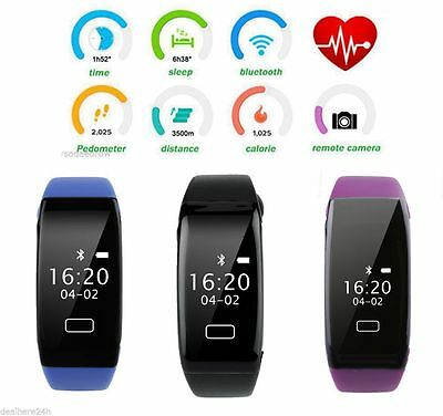 UK Waterproof Smart Watch Bracelet Activity Fitness Health Tracker Sleep Monitor
