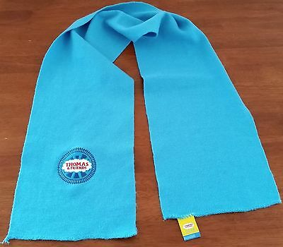 Licensed THOMAS THE TANK ENGINE Blue Acrylic Knit Autumn Winter Scarf