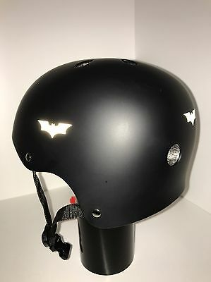 Batman Style **Reflective White** Graphic Decal (x4) (batman begins)