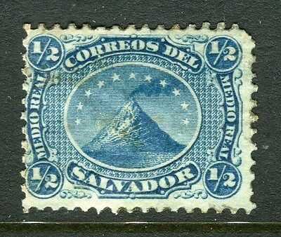 EL SALVADOR;  1867 early classic issue Mint hinged 1/2c. value