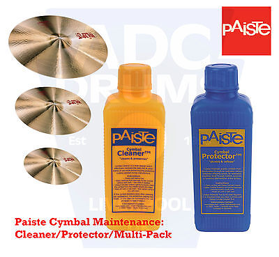 Paiste Cymbal Maintenance: Cleaner/Protector/Multi-Pack (Finish Polish)