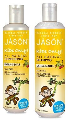 Jason Natural Cosmetic Kids Only Extra Gentle Hair Care Shampoo Conditoner