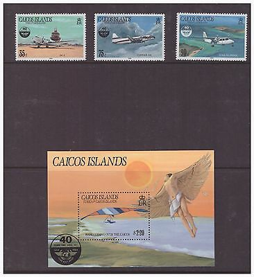 Caicos Islands 1985 Civil Aviation Planes set  sheet  MNH mint stamps