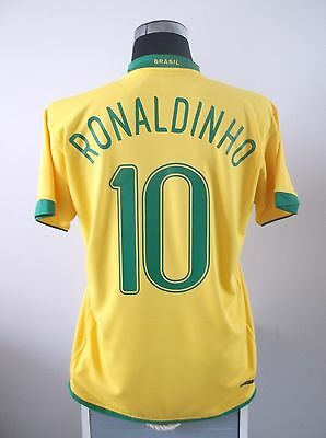 RONALDINHO #10 Brazil Home Football Shirt Jersey 2006-2008 (M)