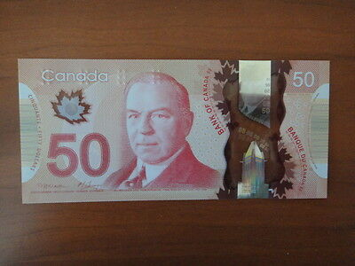 Bank Of Canada Canadian $50 Polymer Banknote Brand New Unc Beautiful Bill
