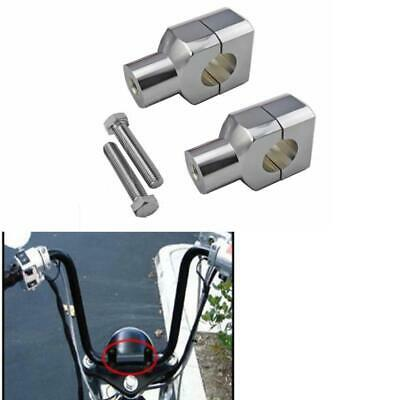 "1"" Chrome Motorcycle Handlebar Risers for Harley Davidson Sportster Softail Dyna"