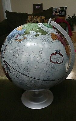"Replogle World Globe 12"" Platinum Classic Series Raised Relief"