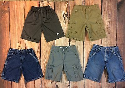 Boys Shorts Lot Size 6 7 Denim Khaki Nike Gray Athletic Adjustable Waist Summer