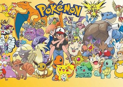 Pokemon Classic Poster Print Picture Photo A4 A3 260Gsm