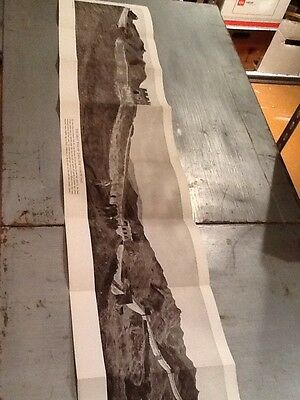 1923 National Geographic Magazine Great Wall Of China Fold Out Poster